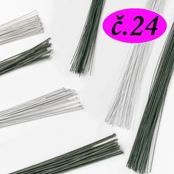 Floristické drôty - ZELENÉ- č.24 - 5 ks