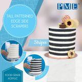 PME plastové hladítko so vzorom - STRIPES