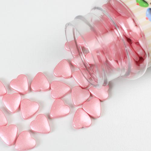 Cukr.posyp - SRDIEČKA - rúžové
