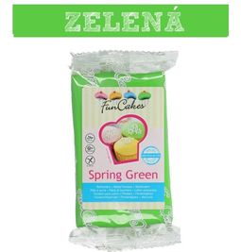 Farebný fondant zelený SPRING GREEN 250 g