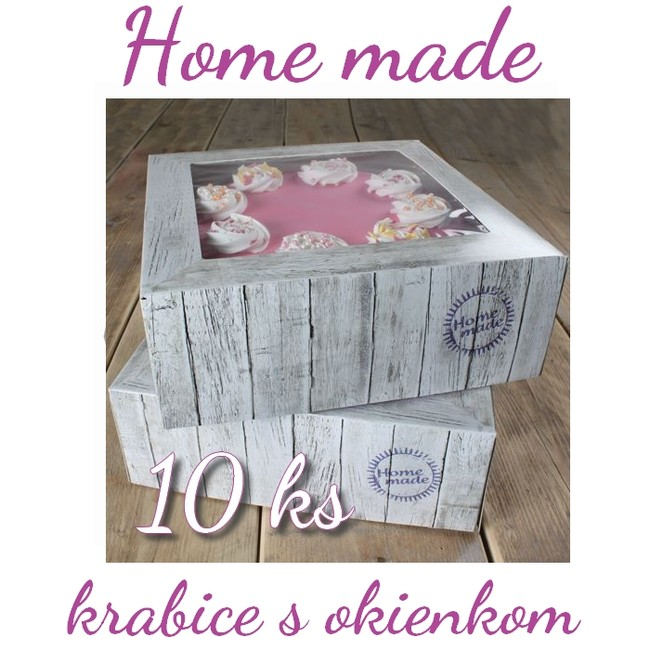 cf89b277f Krabice na tortu HOME MADE - 32 x 32 cm (10 ks) - natortu.sk