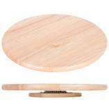 Otočný podnos - drevený , priemer 38 cm