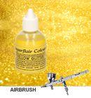 Airbrush farba - trblietavá žltá GLITTER YELLOW 60 ml