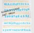 ART DECO - abecedy - KOMPLET SADA