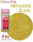 Cukrové perly ZLATÉ - 5 ks v bal.