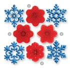 Vykrajovačky - 4 rôzne tvary snehových vločiek