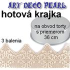hotová jedlá krajka - ART DECO - 3 balenia