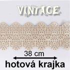 hotová jedlá krajka - VINTAGE ( 38 cm )