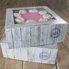 Krabice HOME MADE 32x32cm - VO BALENIE ( 6 ks)