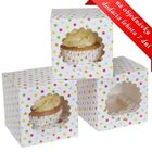 Krabice na cupcakes CONFETY - VO BAL. ( 9 ks )