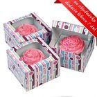 Krabice na cupcakes STRIPE - VO BAL. ( 9 ks )