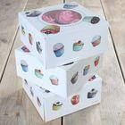 Krabice na 4 cupcakes - VO BAL. 3 sady
