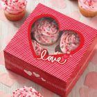 krabičky na 4 cupcakes pre zamilovaných (2ks)