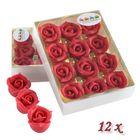 Marcipánové ruže - červené 12 ks