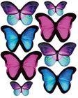 Motýle mix - vyrezávané z jedlého papiera