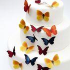 Motýle farebné - vyrezávané z jedlého papiera