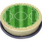 oblátka - futbalové ihrisko - okrúhla torta