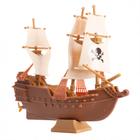 Pirátska loď - plastová dekorácia