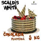 Scaldis white 5 kg - plastická čoko poleva BIELA