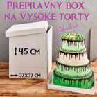 Skladací prepravný box na vysokú tortu - 37 x 37 cm x 45 cm