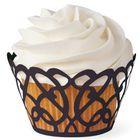 špirálové lemovky na cupcakes- ČIERNE - 18 ks