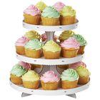 Stojan na cupcakes - muffiny BIELY