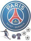 PSG logo tímu plus Neymar a lopty - oblátka