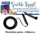 Trblietavá floristicka páska - ČIERNA/STRIEBORNÁ - VO bal.3 ks