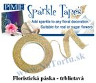Trblietavá floristicka páska - GOLD/SILVER - VO bal.3 ks