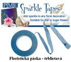 Trblietavá floristicka páska - MODRÁ /STRIEBORNÁ - VO bal.3 ks