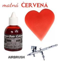 Airbrush farba - matná červená 60 ml