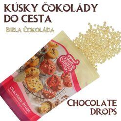 kúsky BELGICKEJ čokolády do cesta - BIELA ČOKOLÁDA