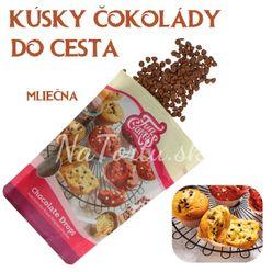 kúsky BELGICKEJ čokolády do cesta - MLIEČNA ČOKOLÁDA