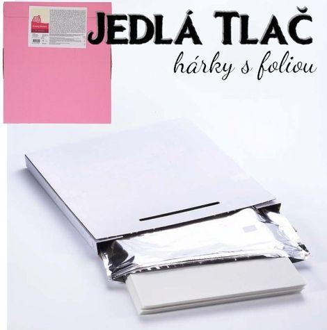 Dekor papier (marcipán) na tlač jedlých obrázkov - 25 ks