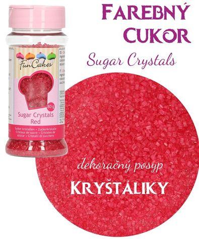 Farebný cukor Funcake - ČERVENÝ 80g