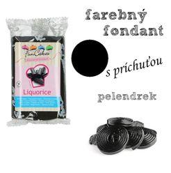 farebný fondant s príchuťou PELENDREK (čierna)