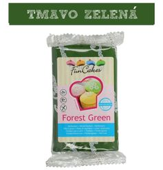 farebný fondant tm.zelený - FOREST GREEN 250 g