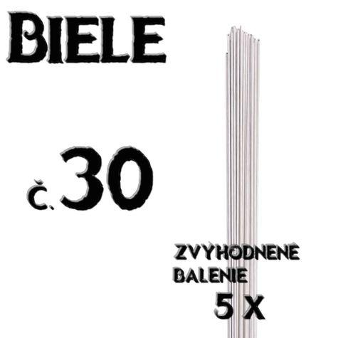 Floristické drôty - BIELE - č.30 - 5 ks