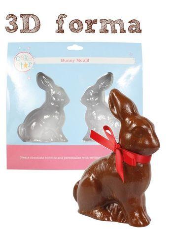 Forma na čokoládového zajačika
