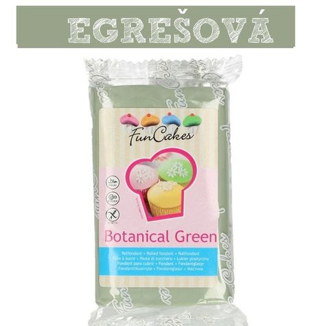 Funcakes - farebný fondant EGREŠOVÁ zelená