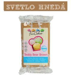 Funcakes - farebný fondant - TEDY BEAR BROWN 250 g