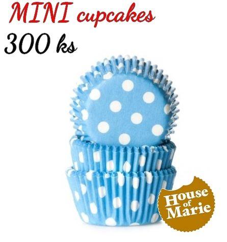 HoM MINI cupcakes - bodky BLUE - VO 5 balení