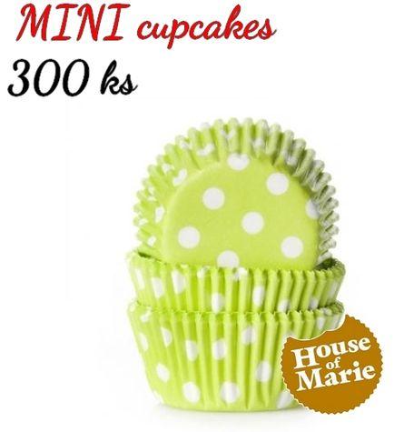 HoM MINI cupcakes - bodky LIME - VO 5 balení