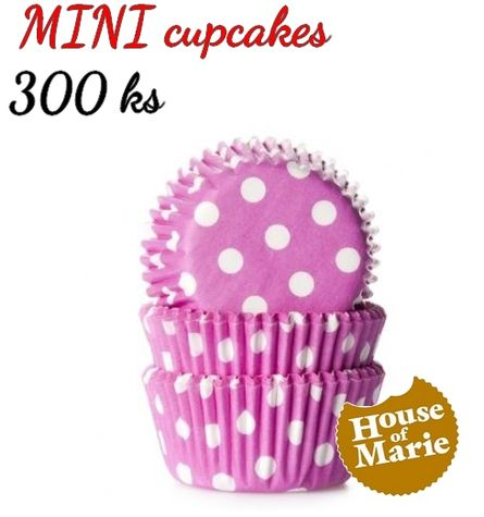 HoM MINI cupcakes - bodky PINK - VO 5 balení