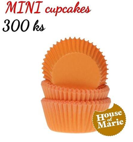 HoM MINI cupcakes - ORANGE - VO 5 balení