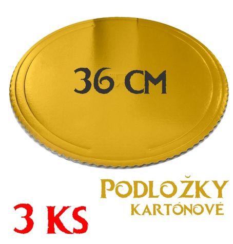 zlatá podložka kruh 34 cm - 3 ks v balení