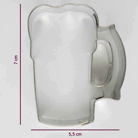 kovová vykrajovačka - PIVO - veľké 7 cm