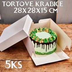 Krabica na tortu PME - 37,5 x 37,5 x 15 cm
