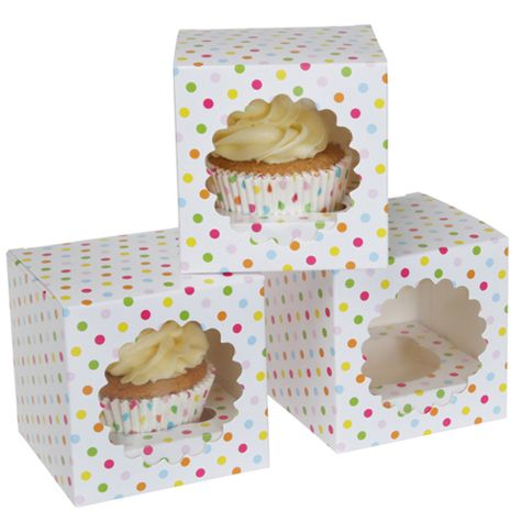 Krabice na 1 cupcake - séria CONFETTI - 3 ks