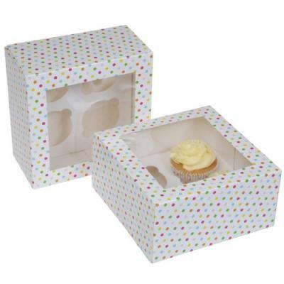 b99c5929b Krabice na 4 cupcakes CONFETI- VO BAL. 3 sady - natortu.sk